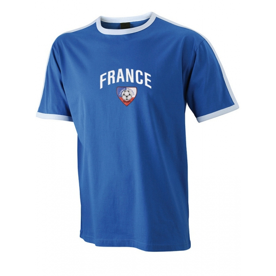 Image of Blauw met wit shirt France
