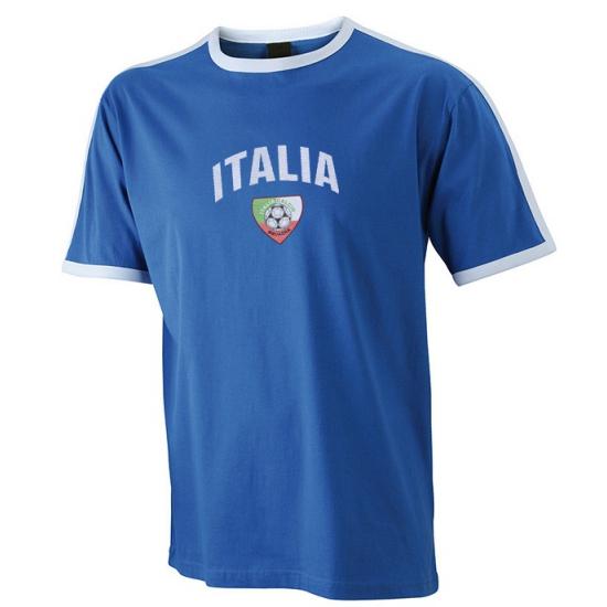Image of Blauw met wit shirt Italia