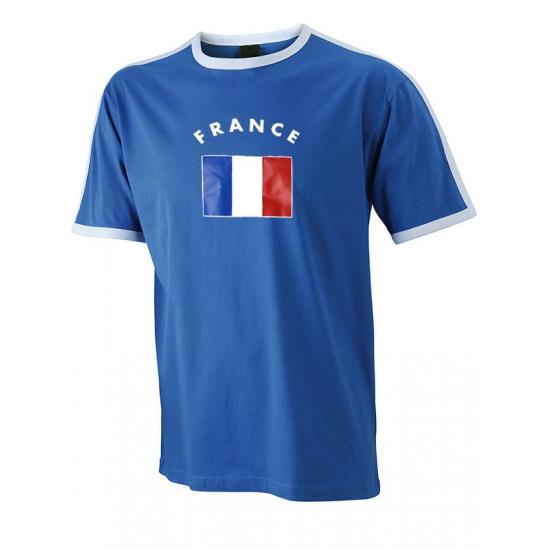 Image of Blauw met wit t-shirt Frankrijk