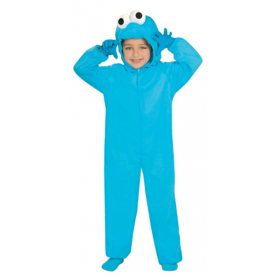 Image of Blauw monster kids verkleedoutfit