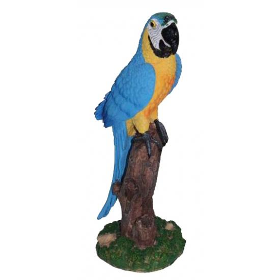 Image of Blauwe ara van aardwerk 32 cm
