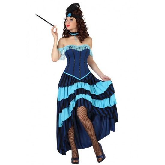 Image of Blauwe cancan jurk voor dames