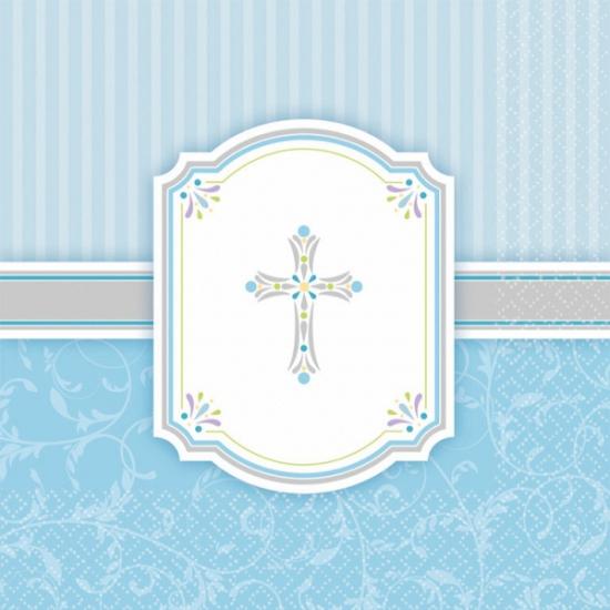 Image of Blauwe Communie servetten 33 x 33 cm