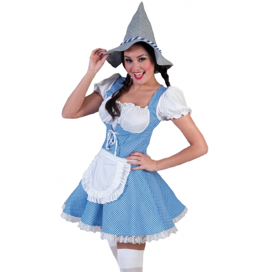 Image of Blauwe dirndl voor dames