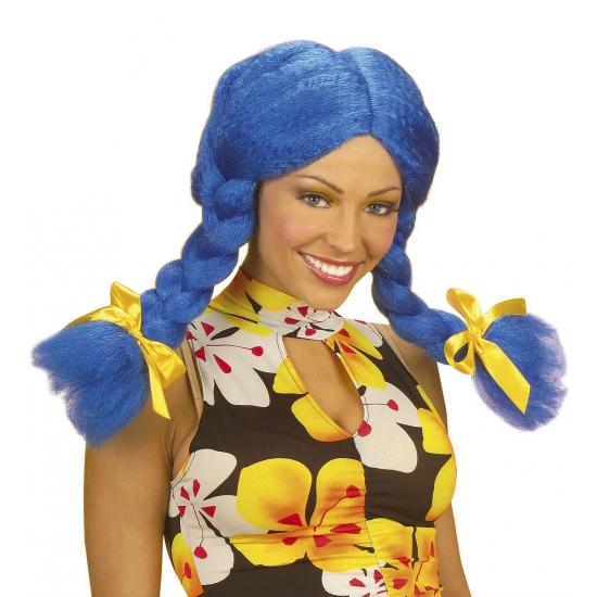 Image of Blauwe Dolly pruik voor dames