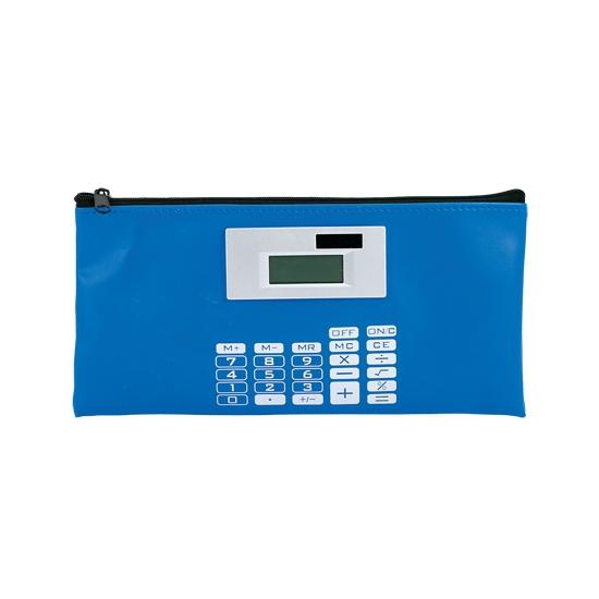 Image of Blauwe etui met rekenmachine