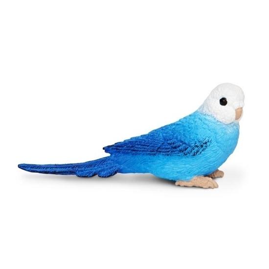 Image of Blauwe grasparkiet van plastic 7 cm