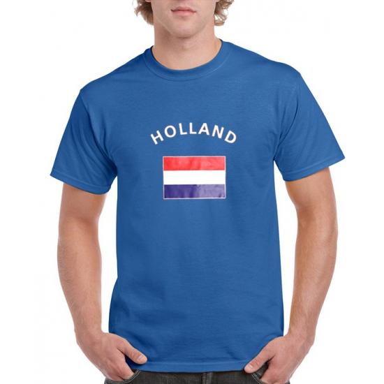 Image of Blauwe heren t-shirts Holland