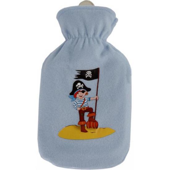Image of Blauwe kruik met hoes piraat