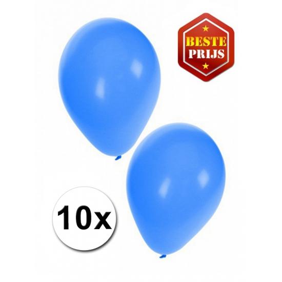 Image of Blauwe latex ballonnen 10 stuks