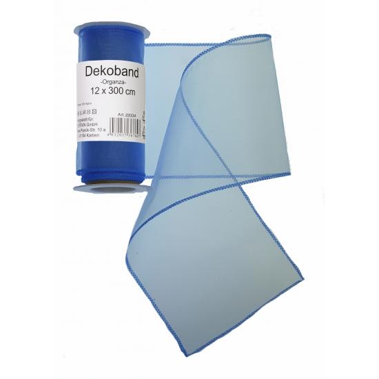 Image of Blauwe organza tule decoratie stof 12 x 300 cm
