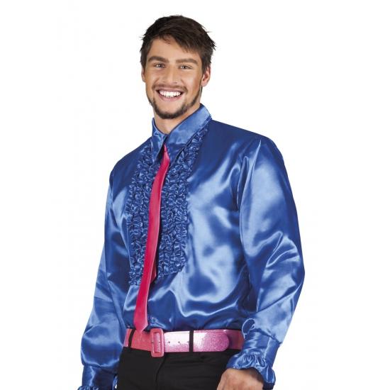 Image of Blauwe rouche overhemden