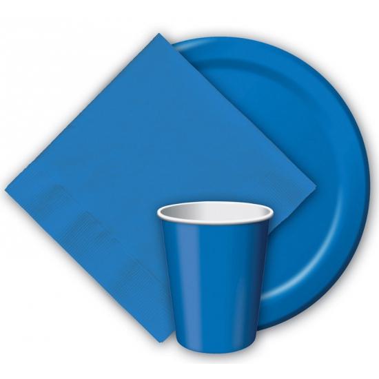 Image of Blauwe weggooi bekertjes 8 stuks