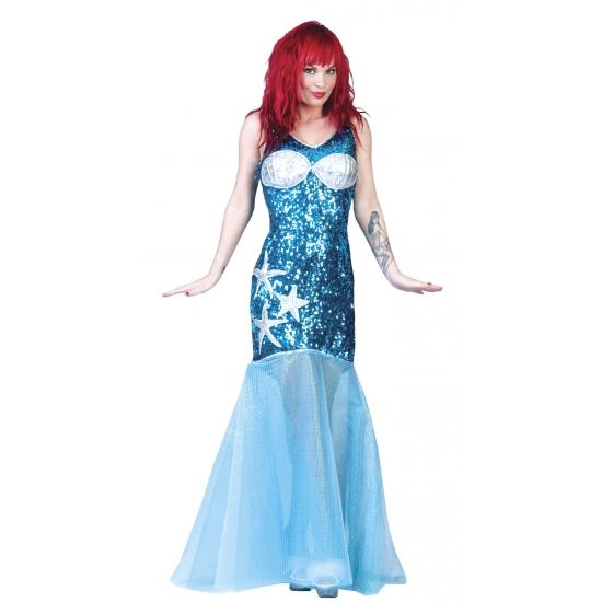 Image of Blauwe zeemeermin jurk