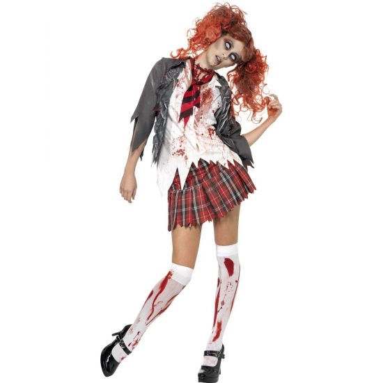 Image of Bloederig zombie schoolmeisje