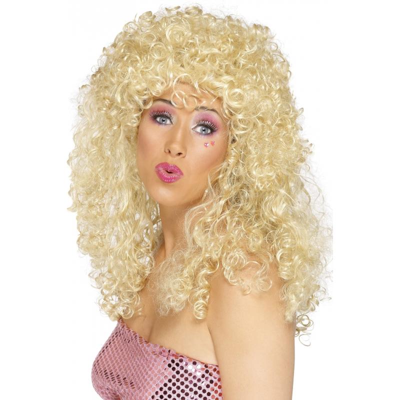 Image of Blonde Dolly pruik met krullen