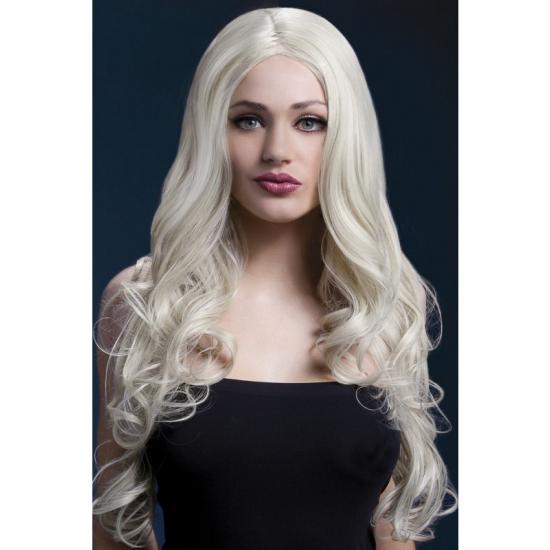 Image of Blonde glamour krullen damespruik