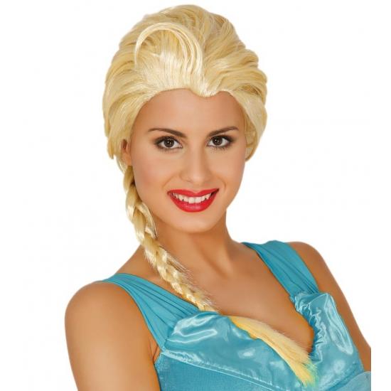 Blonde vrouwen pruik met lange staart