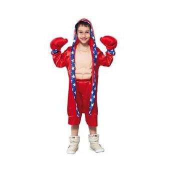 Image of Bokser outfit voor kinderen rood