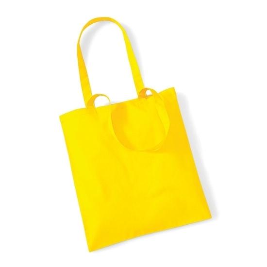 Image of Boodschappentas 100% katoen geel