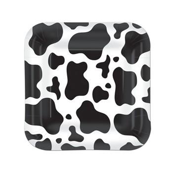 Image of Borden met koeienvlekken 8 stuks