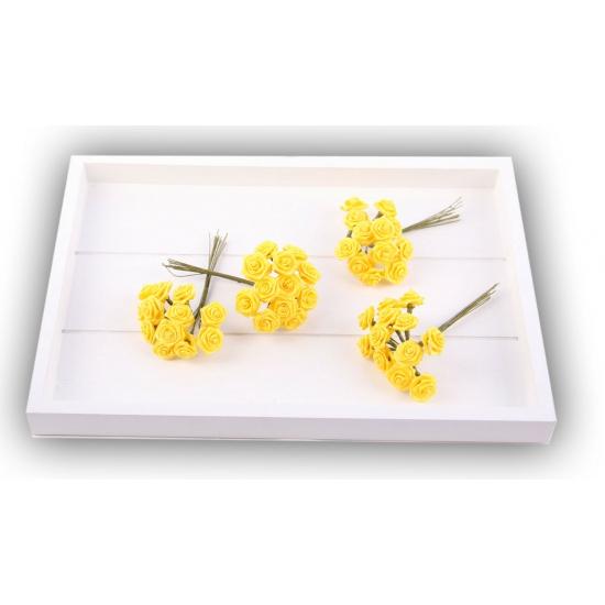 Image of Bosje gele decoratie rozen 12 cm