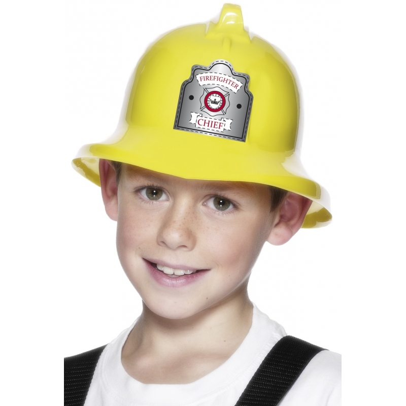 Image of Brandweer helm kinderen geel