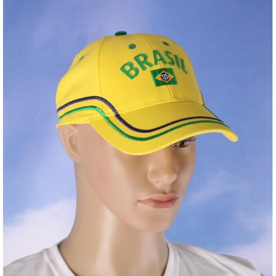 Image of Brazilie baseball cap voor volwassenen