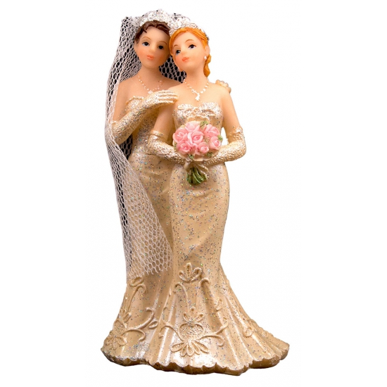 Image of Bruidspaar taart decoratie 2 vrouwen