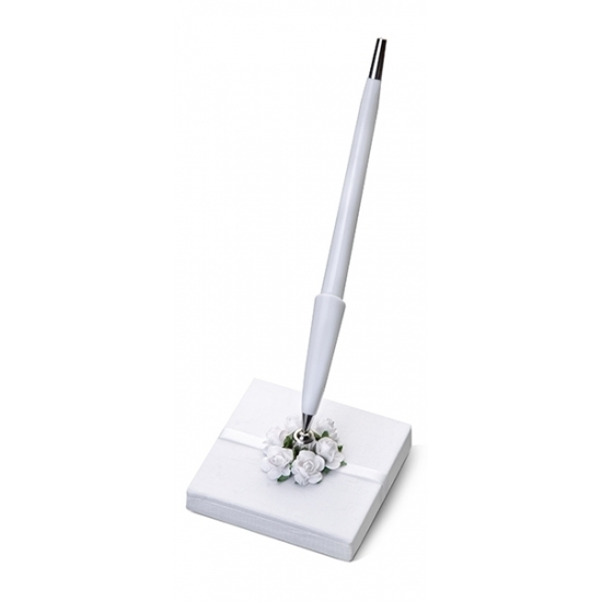 Image of Bruiloft pennenhouder met roosjes