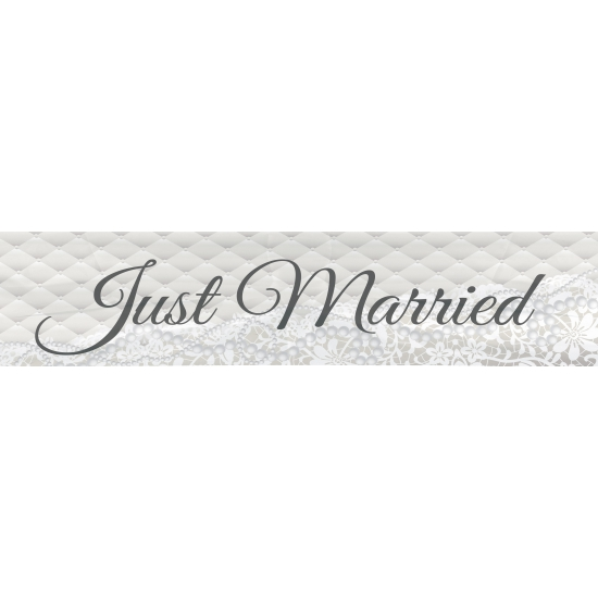 Image of Bruiloft versiering Just Married 360 cm