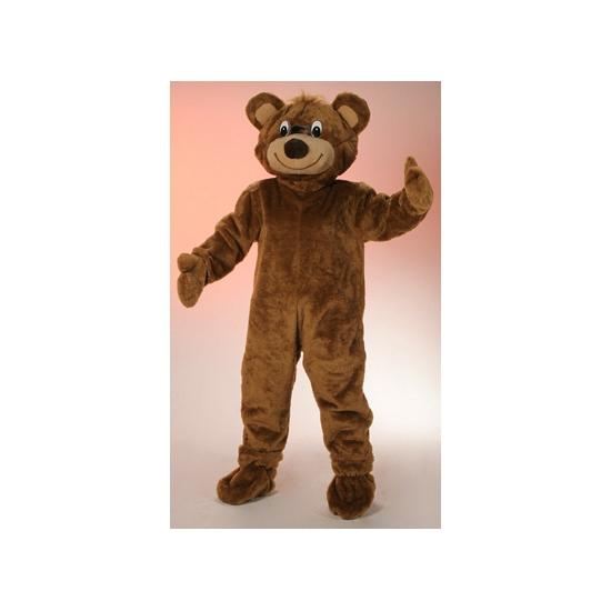 Pluche bruine beer kostuum voor volwassenen. in dit bruine beer kostuum kun je je volledig verstoppen, je ...