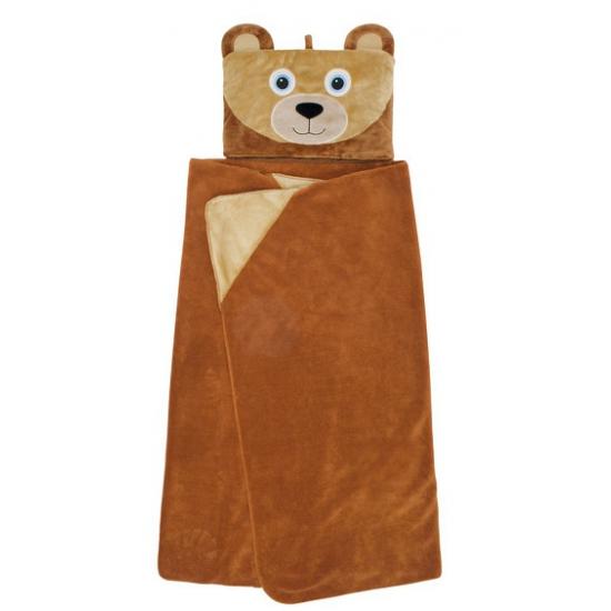 Bruine beer omslag dekentje voor kids