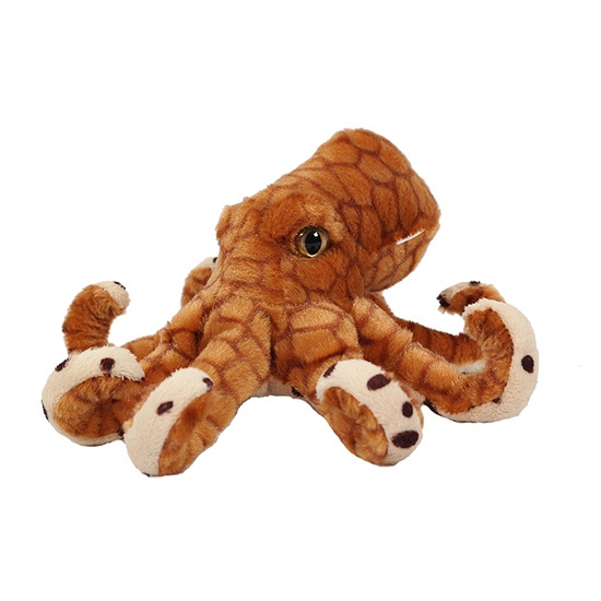 Image of Bruine knuffel octopus 20 cm