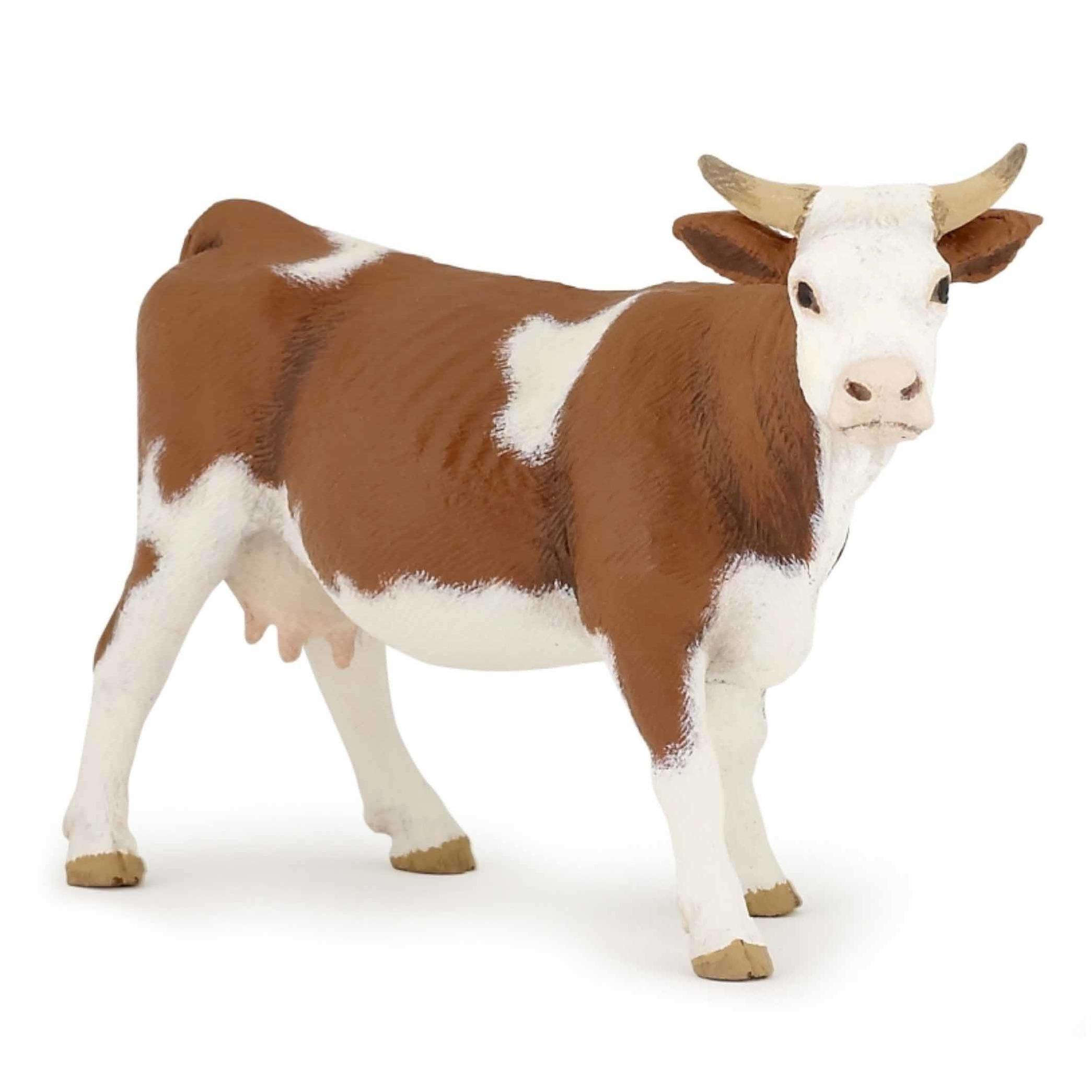 Image of Bruine koe speelfiguur van plastic