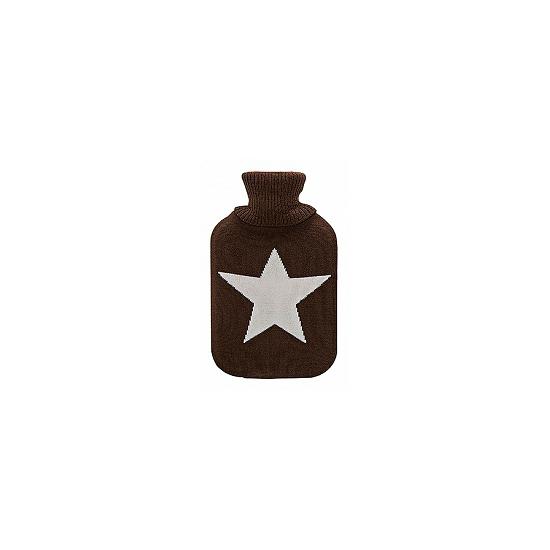 Image of Bruine kruik met witte ster