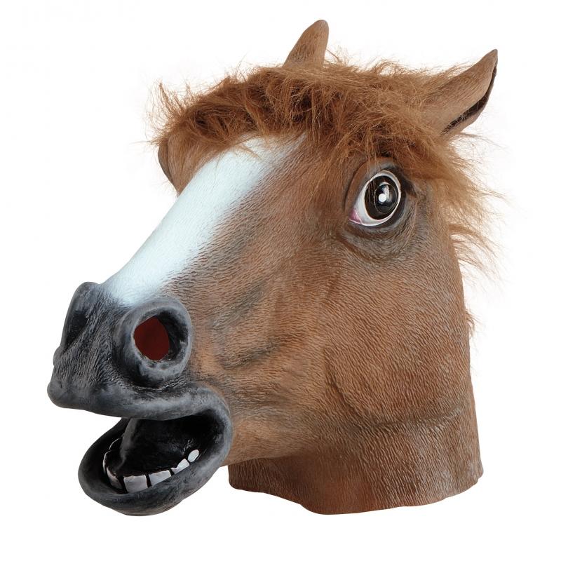 Image of Bruine paarden kop masker voor volwassenen