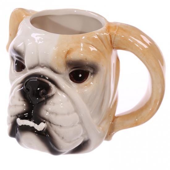 Image of Bulldog hond beker keramiek
