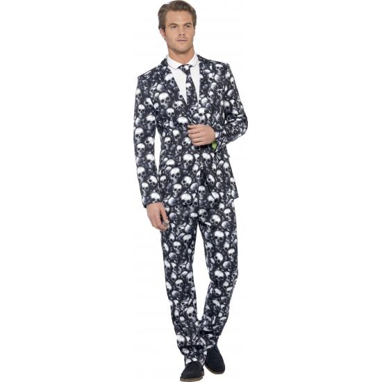 Image of Business suit met schedel print
