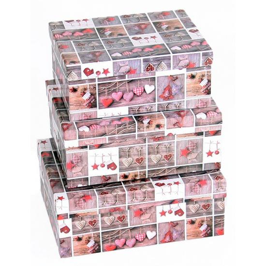Image of Cadeau doos landelijke stijl 22 cm