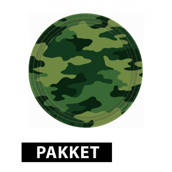 Image of Camouflage feestje pakket