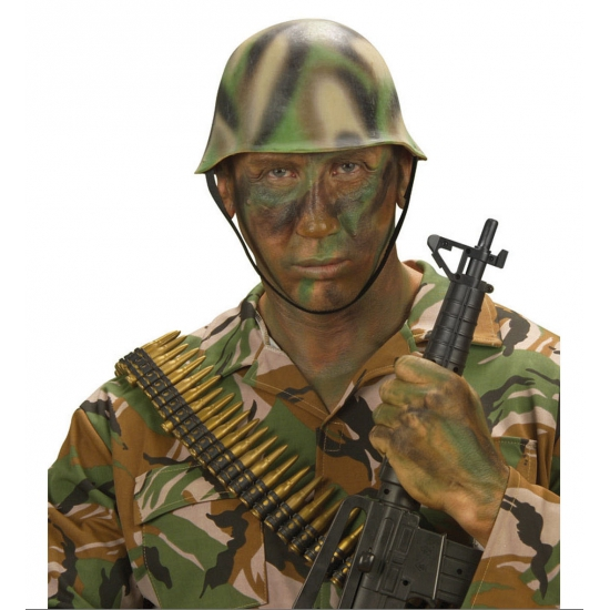 Image of Camouflage helm soldaat