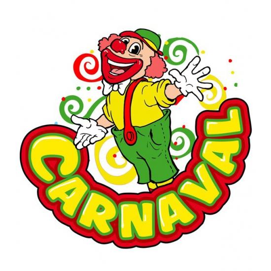 Image of Carnaval decoratiebord clown 35 x 40 cm