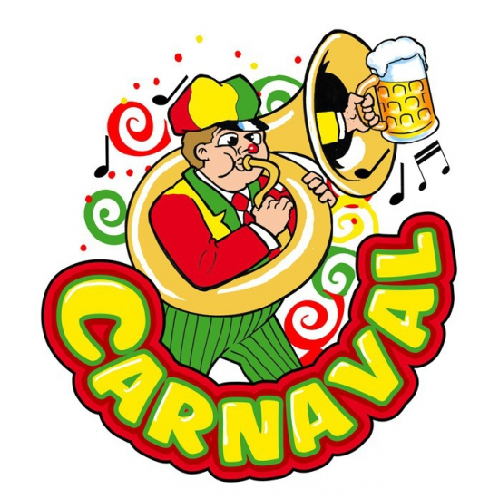 Image of Carnaval decoratiebord muzikant 35 x 40 cm