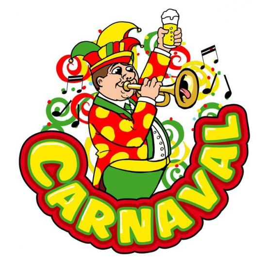 Image of Carnaval decoratiebord muzikant met trompet 35 x 40 cm