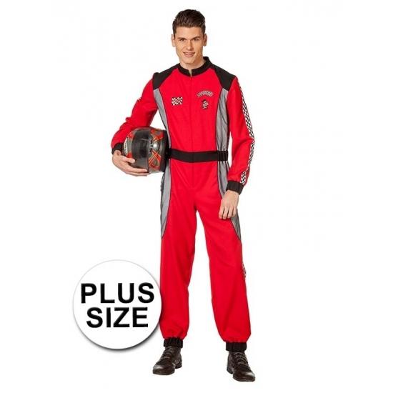 Image of Carnaval kostuum grote maat racer rood voor heren