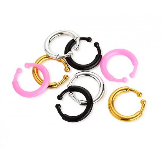 Image of Carnaval nep piercing 8 stuks gekleurd