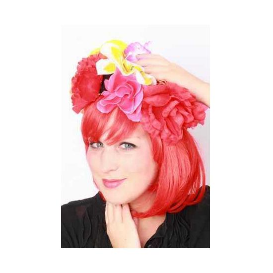 Image of Carnavals bloemen hoed