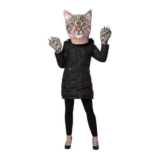 Image of Carnavalskostuum kat set voor volwassenen