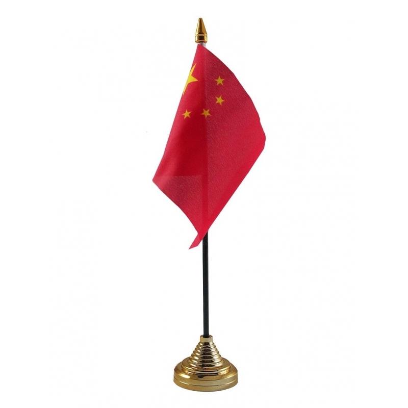 Image of China vlaggetje voor op tafel